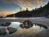 Sunset and Cloud Reflections, Olympic National Park, Washington, USA Photographic Print by Tom Norring