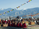 Tibetan Ceremony in Shanti Stupa, Leh, Ladakh, India Photographic Print by Anthony Asael
