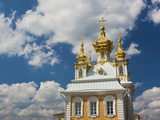 Grand Palace, Peterhof, Saint Petersburg, Russia Photographic Print by Walter Bibikow