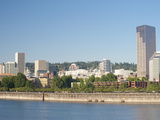 The Portland Skyline and Willamette River in the Morning Light, Portland, Oregon, USA Photographic Print by Greg Probst