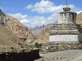 White Stupa, Markha Valley, Ladakh, India Photographic Print by Anthony Asael