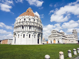 Piazza Dei Miracoli, the Baptistery and the Dome, Pisa, Tuscany, Italy Photographic Print by Nico Tondini