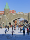 Skate Ring at the Entrance to the Old Town, Quebec City (UNESCO World Heritage Site), Canada Photographic Print by Keren Su