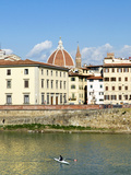 The Arno River, Florence (Firenze), UNESCO World Heritage Site, Tuscany, Italy Photographic Print by Nico Tondini