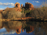 Cathedral Rock Reflections at Sunset, Red Rock Crossing, Sedona, Arizona, USA Photographic Print by Michel Hersen