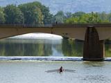 Ponte Amerigo Vespucci, Arno River, Florence (Firenze), UNESCO World Heritage Site, Tuscany, Italy Photographic Print by Nico Tondini