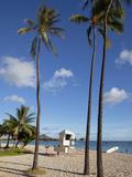 Ala Moana Beach Park, Waikiki, Honolulu, Oahu, Hawaii, USA Photographic Print by Douglas Peebles