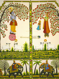 Keren Su - Mural Inside City Palace, Udaipur, Rajasthan, India - Fotografik Baskı