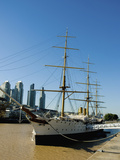 Frigate Presidente Sarmiento, Puerto Madero, Buenos Aires, Argentina Photographic Print by Inger Hogstrom