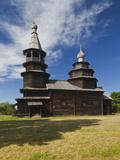Vitoslavitsky Museum of Wooden Architecture, Novgorod Oblast, Veliky Novgorod, Russia Photographic Print by Walter Bibikow