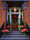 Decorative Christmas Entrance, Georgia, USA Photographic Print by Joanne Wells