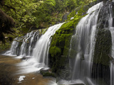 Purakaunui Falls, Catlins, South Otago, South Island, New Zealand Photographic Print by David Wall