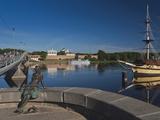 View from Volkhov River, Novgorod Oblast, Veliky Novgorod, Russia Photographic Print by Walter Bibikow