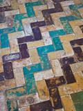 Moorish Tiles, the Alcazar, Seville, Spain Photographic Print by Walter Bibikow