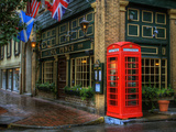Telephone Booth, Savannah, Georgia, USA Photographic Print by Joanne Wells