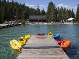 Redfish Lake Lodge, Redfish Lake, Sawtooth National Recreation Area, Idaho, USA Photographic Print by Jamie & Judy Wild