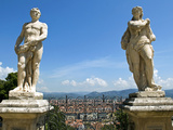 Panoramic View of Florence from Bardini Garden, Florence, UNESCO World Heritage Site, Italy Photographic Print by Nico Tondini