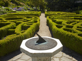 Sundial and Knot Garden, Botanic Gardens, Dunedin, Otago, South Island, New Zealand Photographic Print by David Wall
