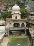 Sri Guru Nanak Ji Gurdwara Shrine, Manikaran, Himachal Pradesh, India Photographic Print by Anthony Asael