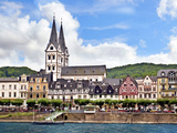 Houses and Church of St. Severus, Boppard, Germany Photographic Print by Miva Stock