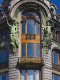 Singer Building Detail, Saint Petersburg, Russia Photographic Print by Walter Bibikow