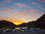 Sea Kayaks on Shore, Puerto Balandra, Isla Carmen, Baja, Sea of Cortez, Mexico Photographic Print by Gary Luhm