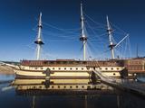 Floating Restaurant, Novgorod Oblast, Veliky Novgorod, Russia Photographic Print by Walter Bibikow