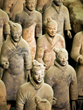 Qin Shi Huang Di Mausoleum with Terracotta Warriors, Xi'An, China Photographic Print by Miva Stock