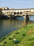 Ponte Vecchio (14th Century), Firenze, UNESCO World Heritage Site, Tuscany, Italy Stampa fotografica di Nico Tondini