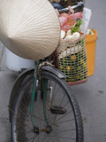 Loads Piled Up on Bicycles for Delivery in Hoi An, Vietnam Photographic Print by David H. Wells