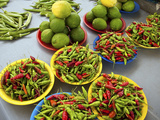 Peppers, Fruit and Vegetable Outdoor Market, Suva, Fiji Photographic Print by Miva Stock