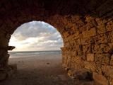 Aqueduct Ruins, Caesarea, Israel Photographic Print by Ellen Clark