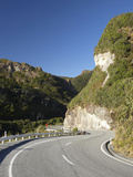State Highway Six at Ten Mile Creek North of Greymouth, West Coast, South Island, New Zealand Photographic Print by David Wall