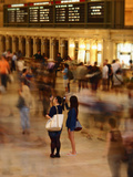 Two Tourists Photograph Bustling Crowds in Grand Central Station, New York City, New York, USA Photographic Print by David H. Wells