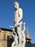 The Neptune Statue (Biancone), Firenze, UNESCO World Heritage Site, Tuscany, Italy Photographic Print by Nico Tondini