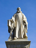 Statue of Guido of Arezzo, Guido Monaco Square, Arezzo, Tuscany, Italy Photographic Print by Nico Tondini