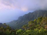 Kalalau Overlook, Kauai, Hawaii, USA Photographic Print by Dennis Flaherty