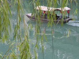 Boat on Wuyang River, Zhenyuan, Guizhou, China Photographic Print by Keren Su