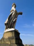 Statue of Summer, Ponte Santa Trinita, Florence, UNESCO World Heritage Site, Tuscany, Italy Photographic Print by Nico Tondini