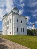 Yuryev Monastery, Novgorod Oblast, Veliky Novgorod, Russia Photographic Print by Walter Bibikow