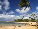 Poipu Beach Park on the Southern Coast of Kauai Island, Hawaii, USA Photographic Print by David R. Frazier