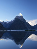 Early Light on Mitre Peak, Milford Sound, Fiordland National Park, South Island, New Zealand Photographic Print by David Wall