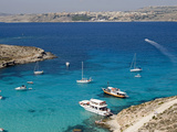 Blue Lagoon, Aerial View, Comino Island, Republic of Malta Photographic Print by Nico Tondini