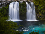 Waterfalls at Ojos Del Caburga, Araucania Region, Chile Photographic Print by Scott T. Smith
