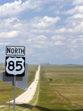 Highway 85 North Road Sign, South Dakota, USA Photographic Print by David R. Frazier
