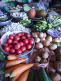 Produce for Sale in a Market in Hoi An, Vietnam Photographic Print by David H. Wells