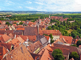 Rooftop View, Rothenburg Ob Der Tauber, Germany Photographic Print by Miva Stock