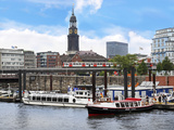 Tour Boats, Hamburg, Germany Photographic Print by Miva Stock
