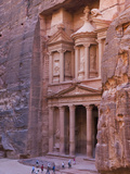Facade of Treasury (Al Khazneh), Petra, Jordan Photographic Print by Keren Su