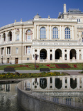 Reflection of Historic Odessa Opera House and Theater, Odessa, Ukraine Photographic Print by Cindy Miller Hopkins